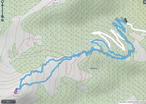 Mappa cima della Rosetta
